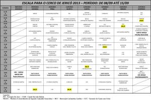 ESCALA PARA O CERCO DE JERICÓ 2013 - JAUC